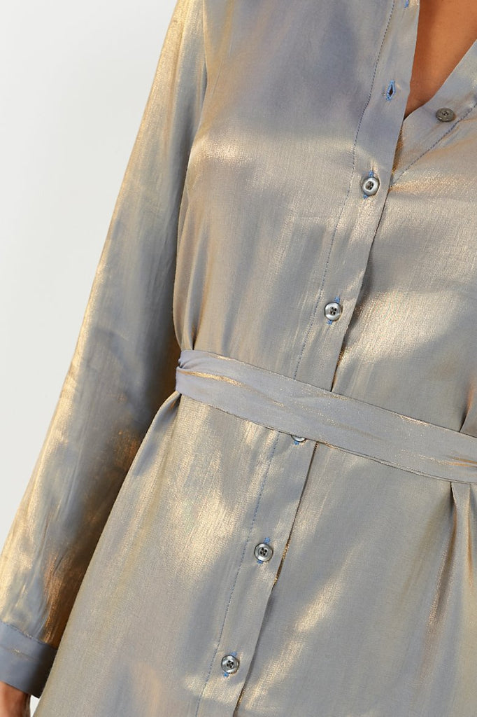 Perry Gold 2 Toned Shirt Dress