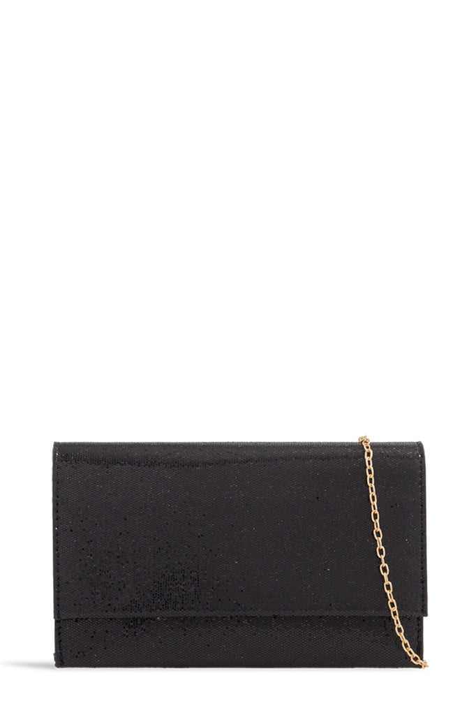 Perth Black Mini Glitter Clutch (1625195282498)