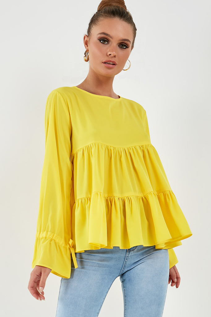 Phillipa Yellow Smock Top
