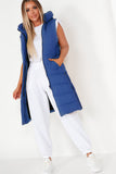 Pippa Royal Blue Longline Padded Gilet
