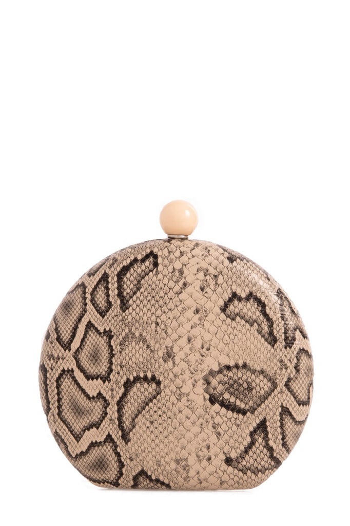 Pola Nude Snakeskin Structured Bag