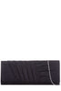 Portia Black Suedette Structured Clutch Bag