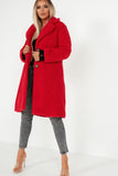 Quelina Red Oversized Teddy Coat