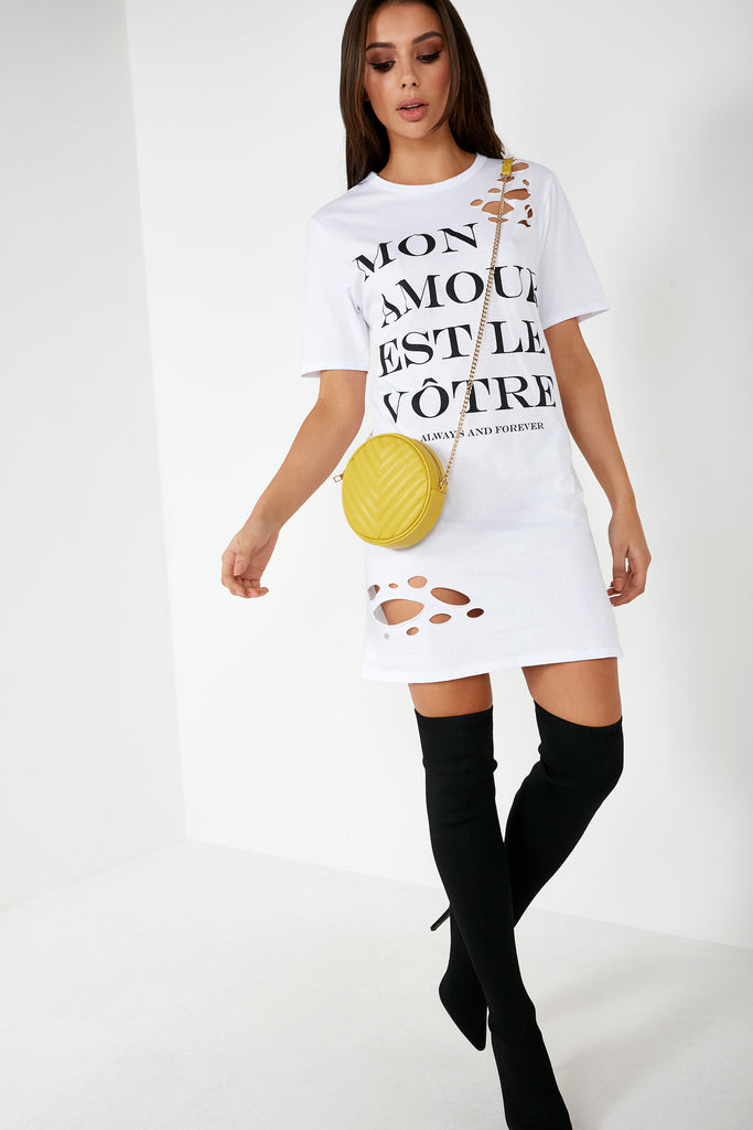 Reggie White Slogan T-Shirt Dress