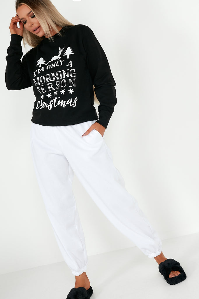 "Reign Black ""Morning Person on Christmas"" Jumper"