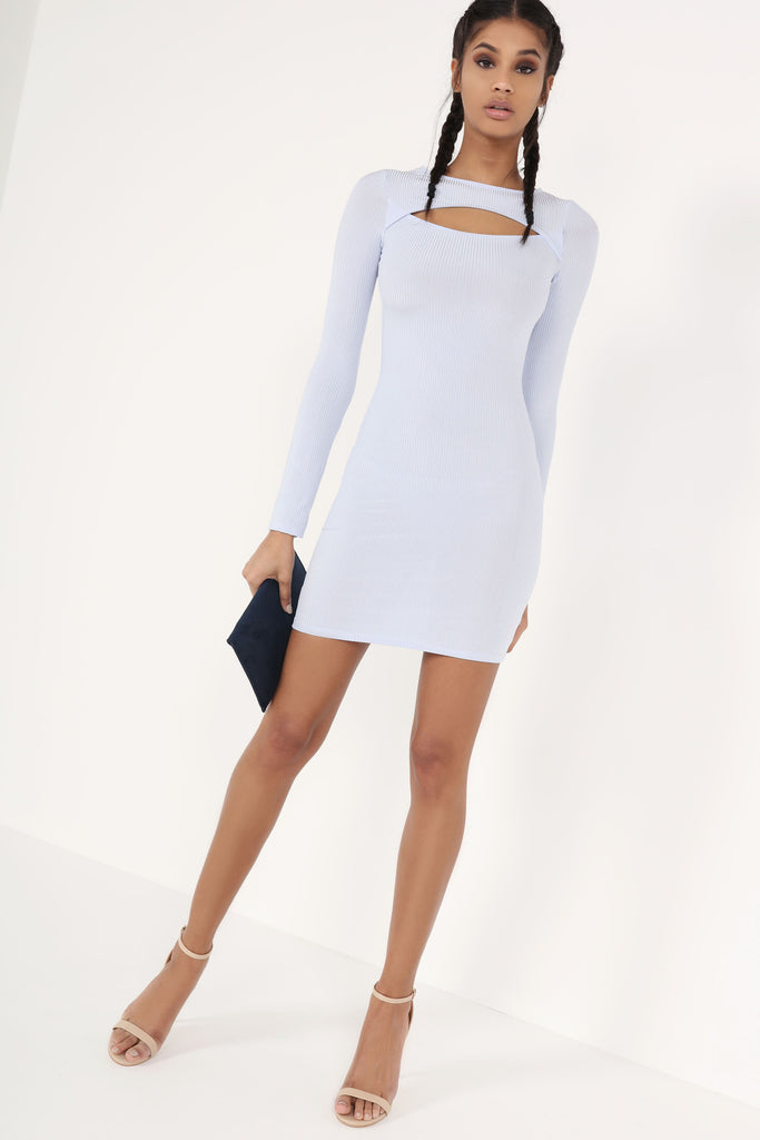 Reilly Blue Cut Out Bodycon Dress (8154743120)