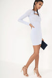 Reilly Blue Cut Out Bodycon Dress