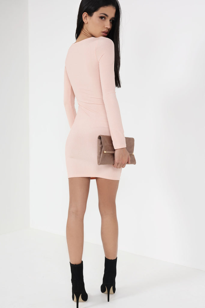 Reilly Nude Cut Out Bodycon Dress
