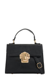 Rexi Black Mock Croc Structured Bag