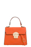 Rexi Orange Mock Croc Structured Bag (768291897452)