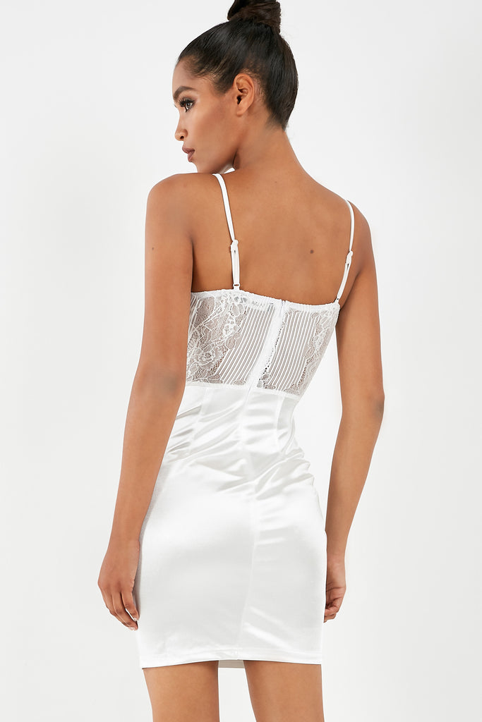 Rhona White Bodice Bodycon Dress