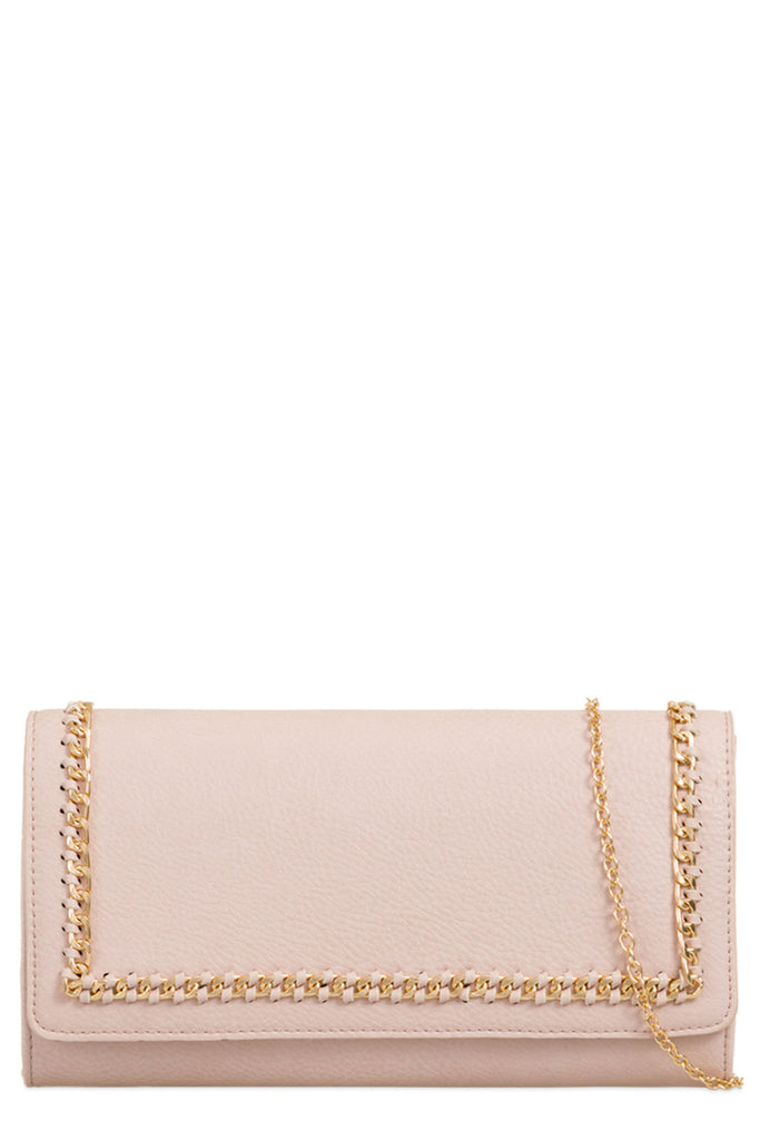 Rolla Nude Gold Chain Clutch Bag (8431525264)