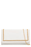 Rolla White Gold Chain Clutch Bag (8431533840)