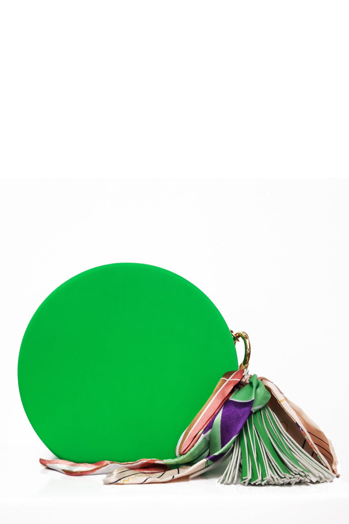 Rossa Neon Green Round Bag