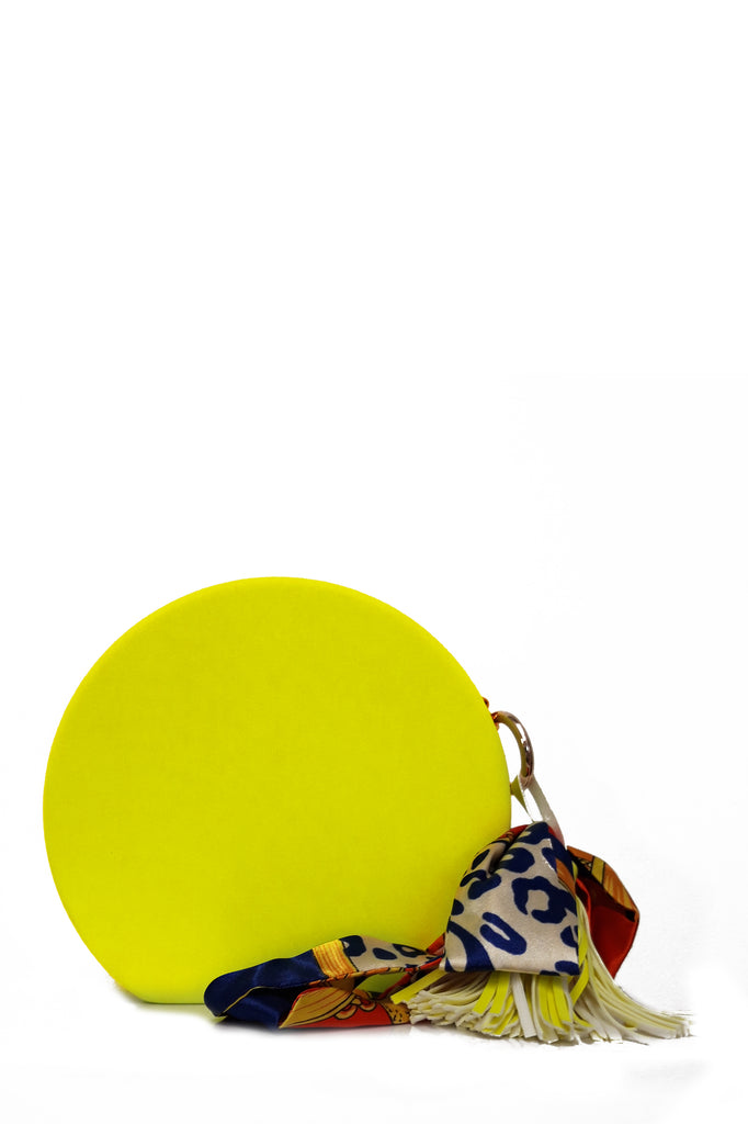 Rossa Neon Yellow Round Bag