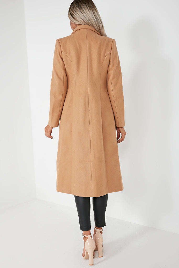 Roxanne Camel Double Breasted Coat
