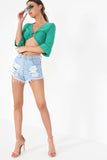 Sage Green Ring Crop Top (90540081168)