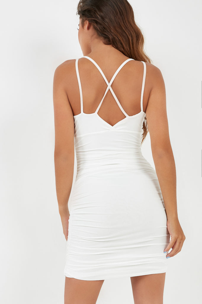 Sallie White Strappy Bodycon Dress