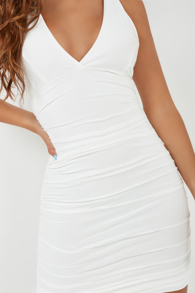 Sallie White Strappy Bodycon Dress (1983011946562)
