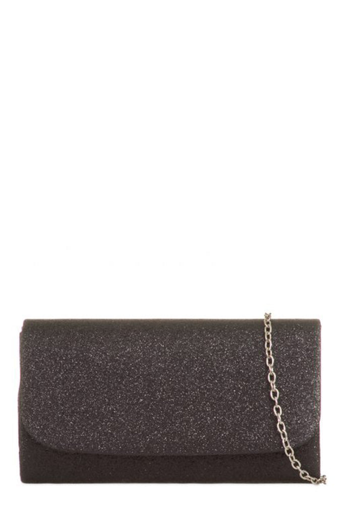 Sally Black Glitter Structured Box Bag (1482124427330)