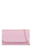 Sally Pink Glitter Structured Box Bag (1482121347138)