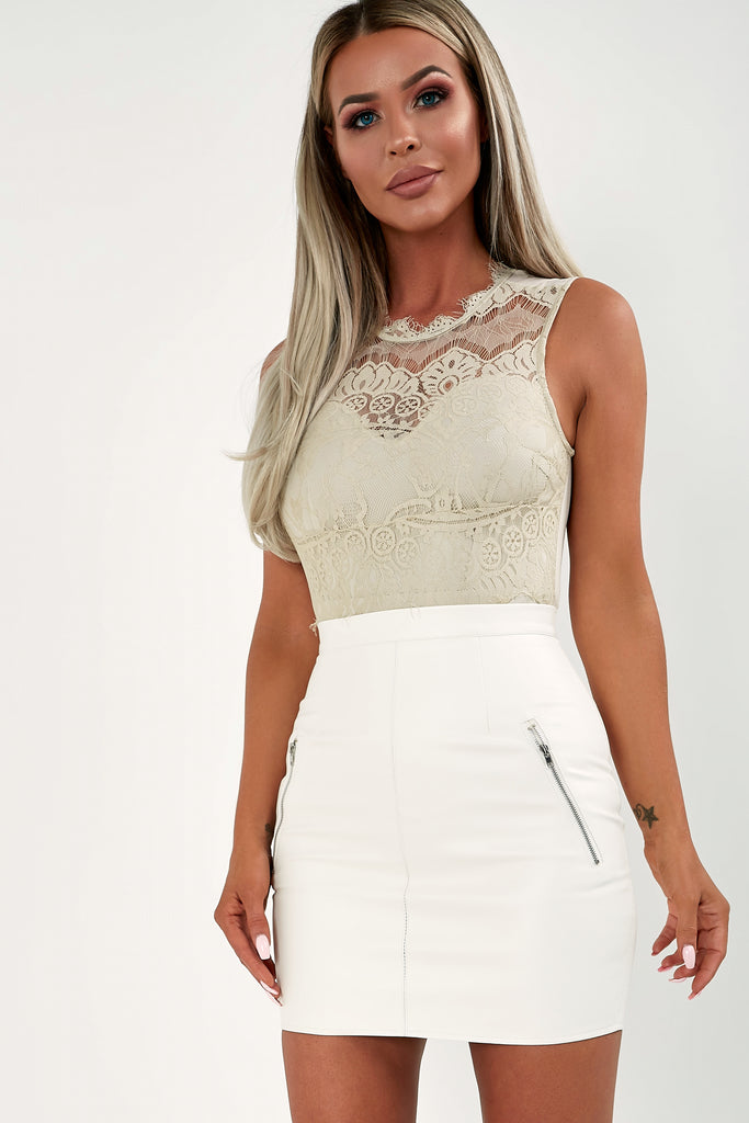 Sam Stone Lace Sleeveless Bodysuit