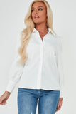 Samara White Puff Sleeve Shirt
