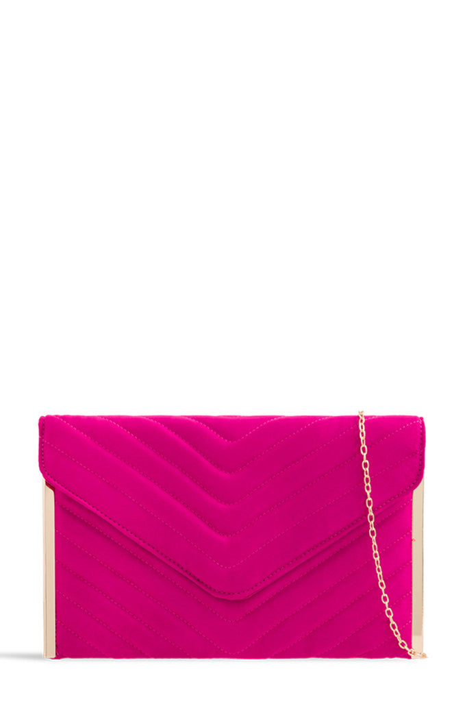 Sara Fuchsia Suede Quilted Bag