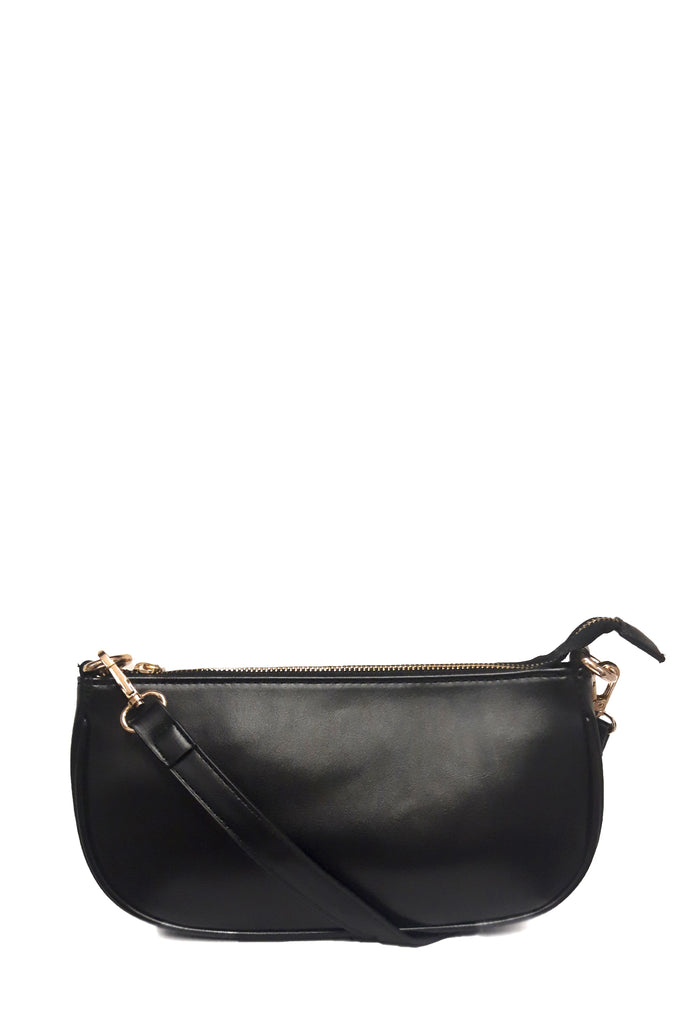 Suzie Black PU Layered Chain Bag