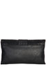 Sasha Black Leatherette Snake Print Bag