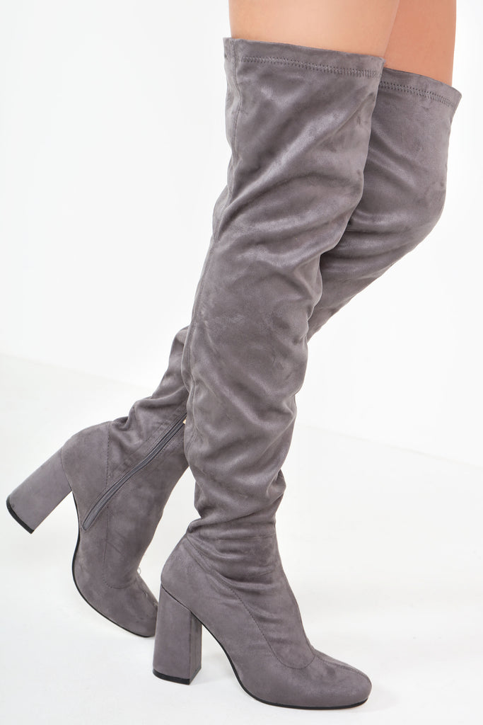 Sasha Grey Suedette Over Knee Boots
