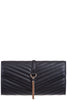 Shanel Black Quilted Clutch Bag