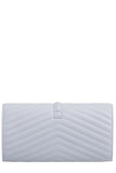Shanel Grey Quilted Clutch Bag