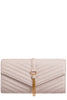 Shanel Ivory Quilted Clutch Bag