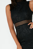 Shanice Black Lace Dress