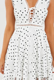 Shantel White Polka Dot Handkerchief Dress