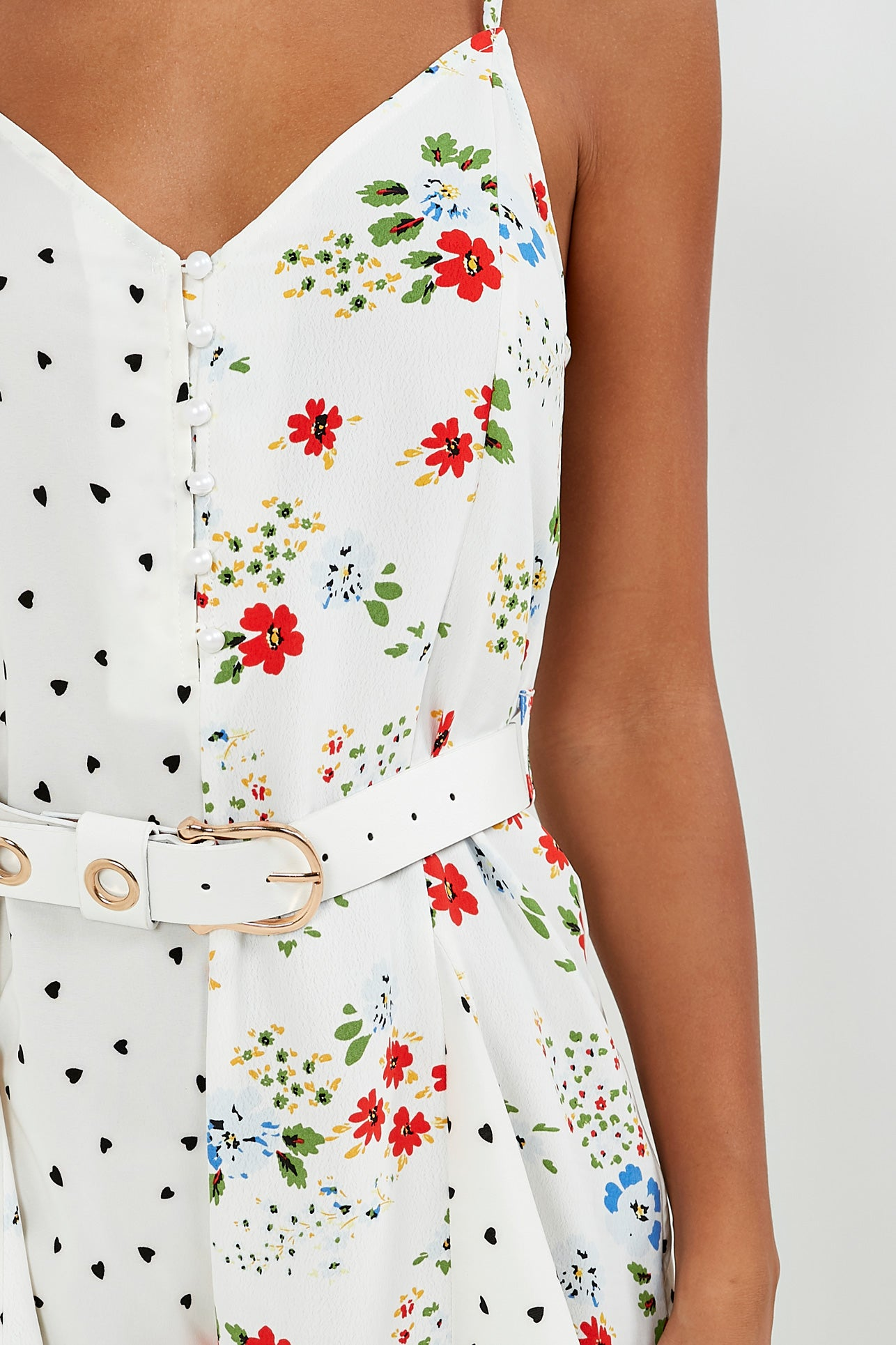 b8a2409a60f Shirley White Heart Floral Print Playsuit. Next