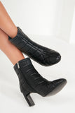 Sloane Black Quilted Ankle Boots
