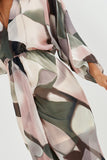 Solange Multi Chiffon Printed Maxi Dress