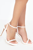 Taffy White Barely There Sandals