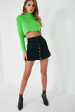 Tami Neon Green Knit Crop Jumper