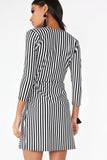 Tammy Monochrome Striped Dress