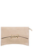 Tana Beige Leatherette Clutch Bag