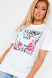 Tayla White L'Amour Floral Graphic Tee