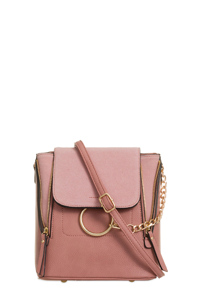 Teah Pink Leatherette Backpack (87785603088)