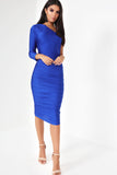 Telsa Blue One Sleeve Dress (123680751632)