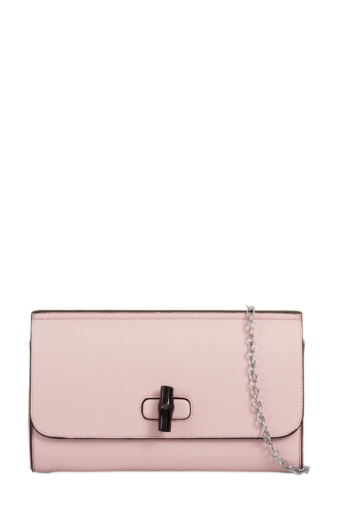 Thora Pink Leatherette Button Clutch Bag (8160337040)