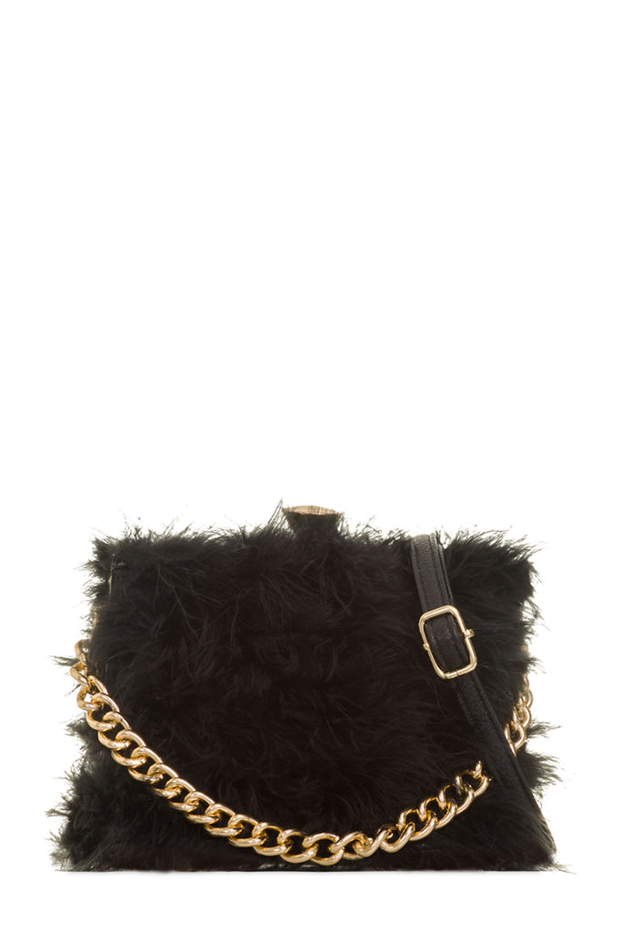 Toby Black Feather Bag