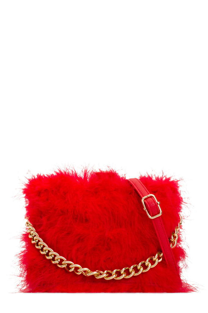 Toby Red Feather Bag (18860539920)