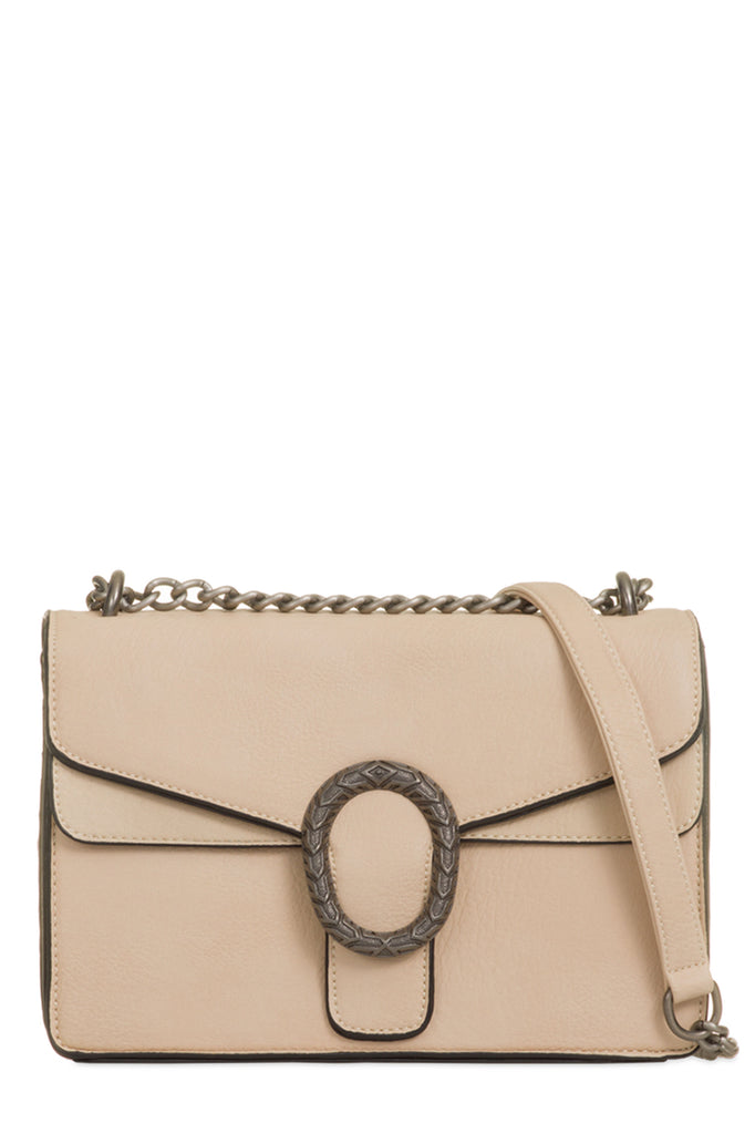 Tommie Beige Structured Box Bag (18801426448)